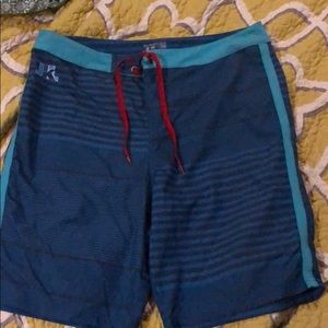 Just Keep Living size 36 board shorts